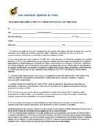 Declaración sobre la Ley de Protección de Datos (Club)