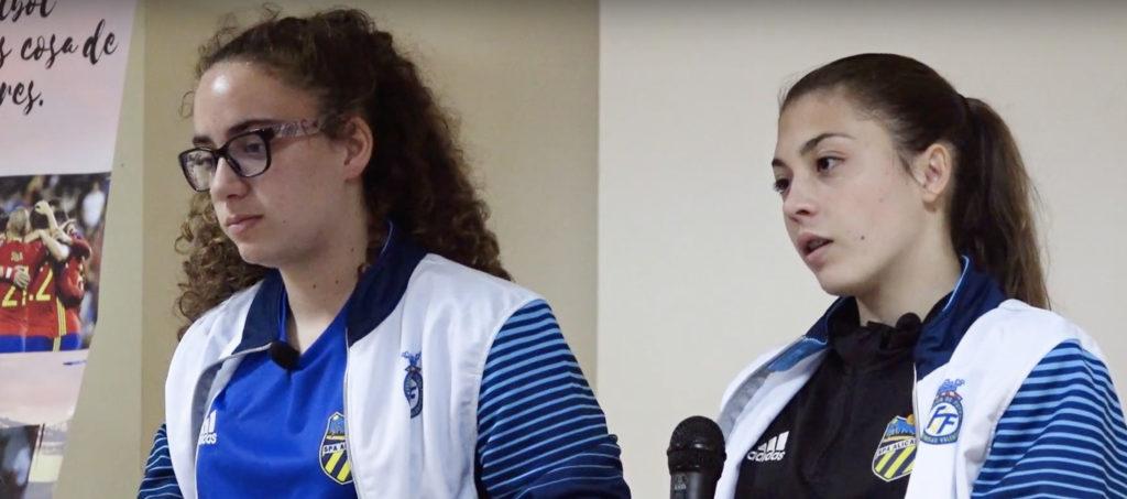Lucía Palomares y Asun en Almoradí con Valenta