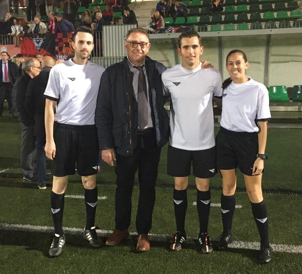 Pepe Enguix con Álvaro Cánovas,, Rita Cabañero y Sergio Moreno