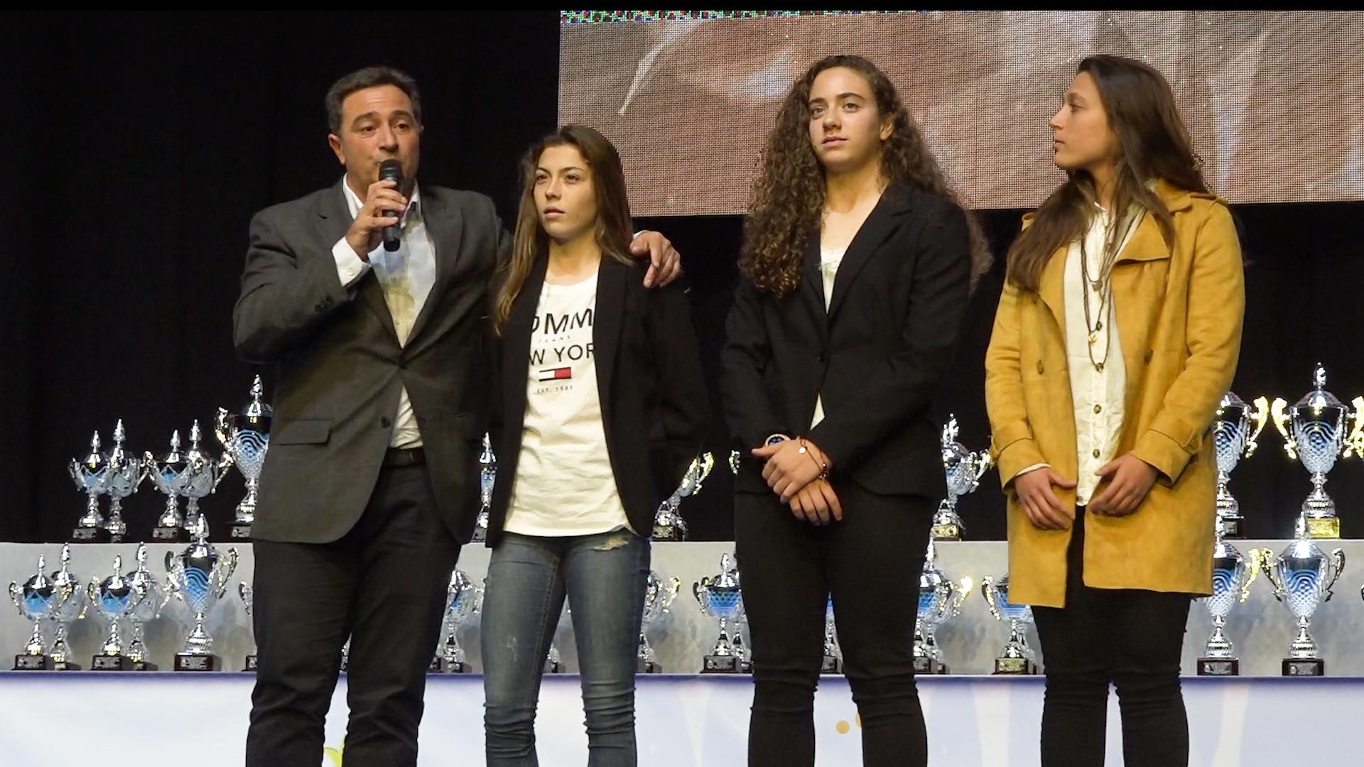 Salva Gomar, Asun Martínez, Lucía Palomares y Andrea Cerdá en Gala Premios Alicante FFCV 2019