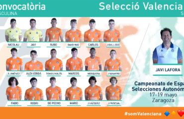 Convocatoria Selecció Valenciana sub16 MASCULINA Fase Final Zaragoza