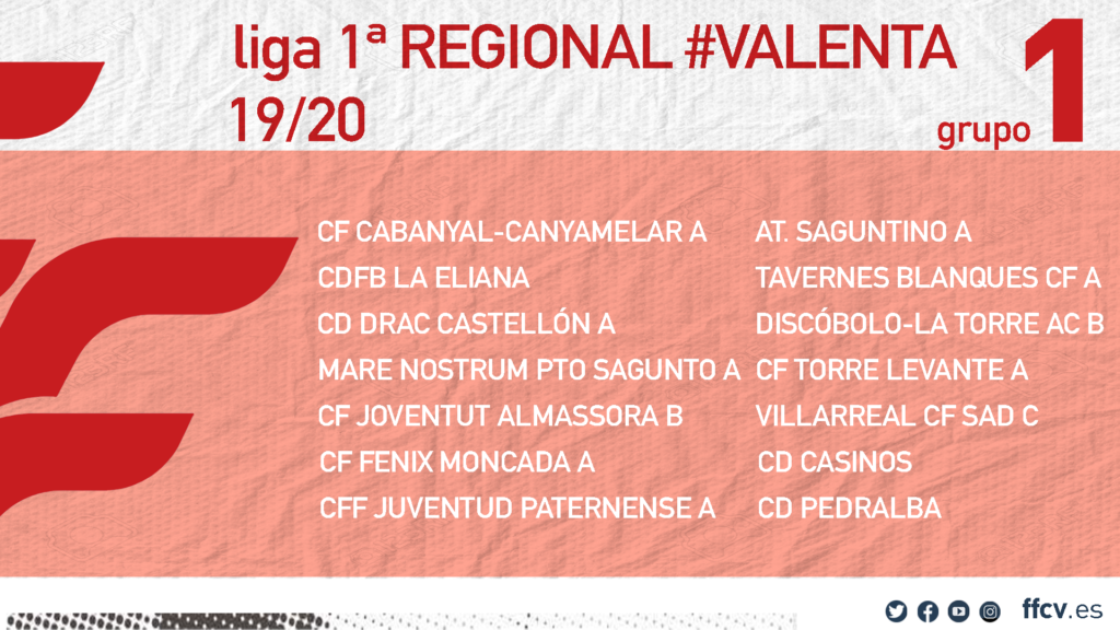 Grupo Liga Regional Valenta grupo 1 19-20