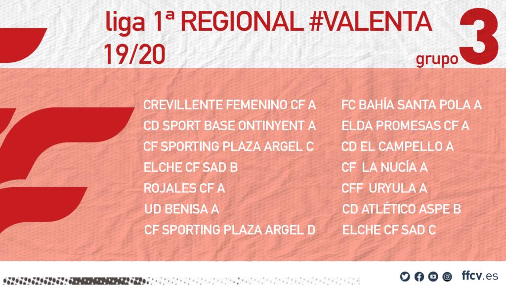 Grupo Liga Regional Valenta grupo 3 19-20