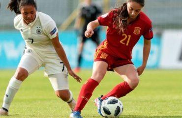 Aixa Salvador, con la Selección española