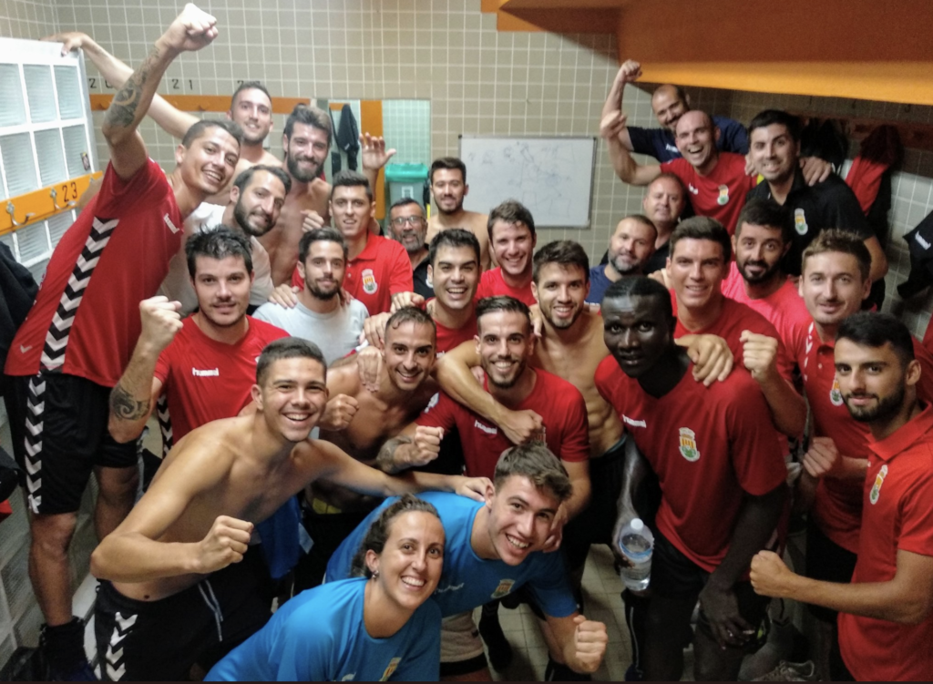 28 agosto- FC Jove Español celebra pase a final Copa RFEF