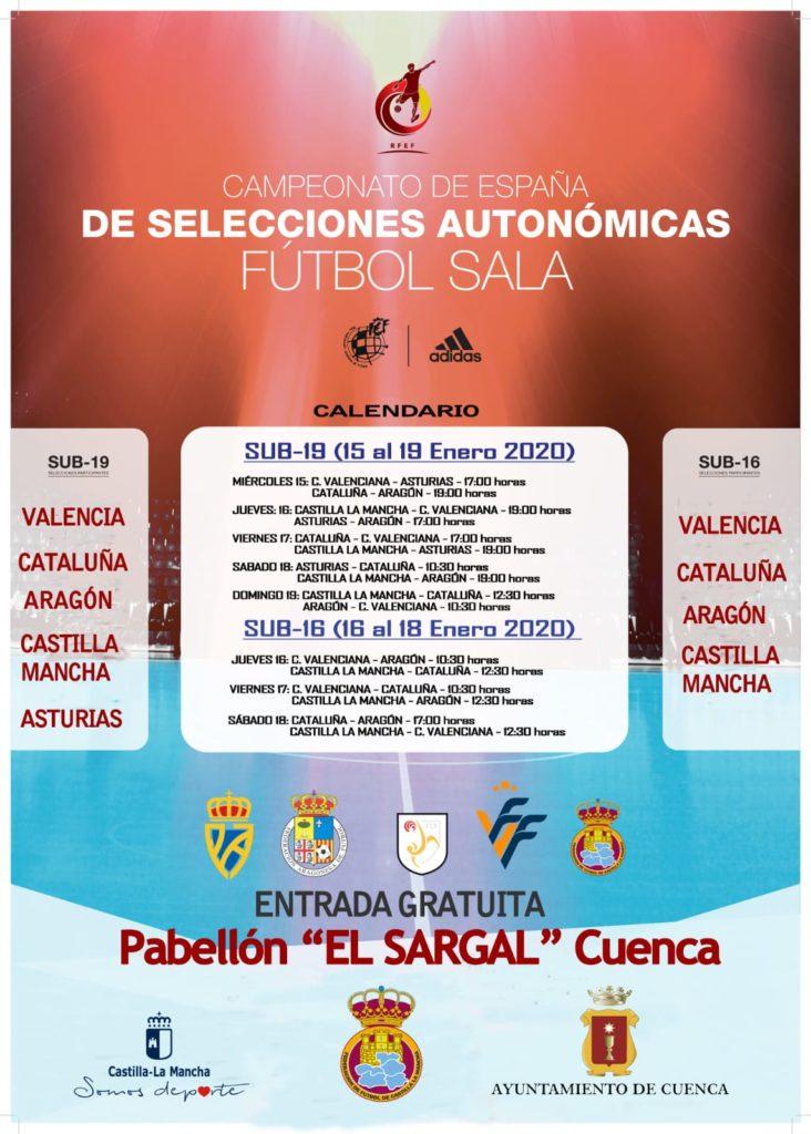 cartel oficial CNSA futsal Cuenca