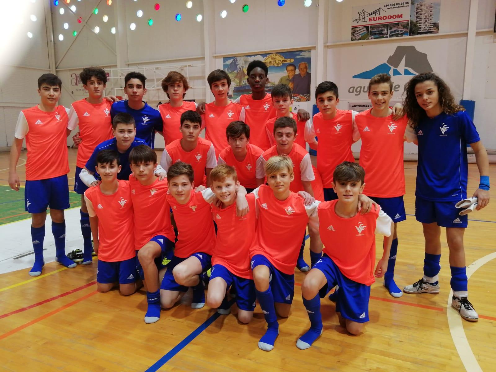 9 feb. Entrenamiento Selecció sub14 futsal en Calpe
