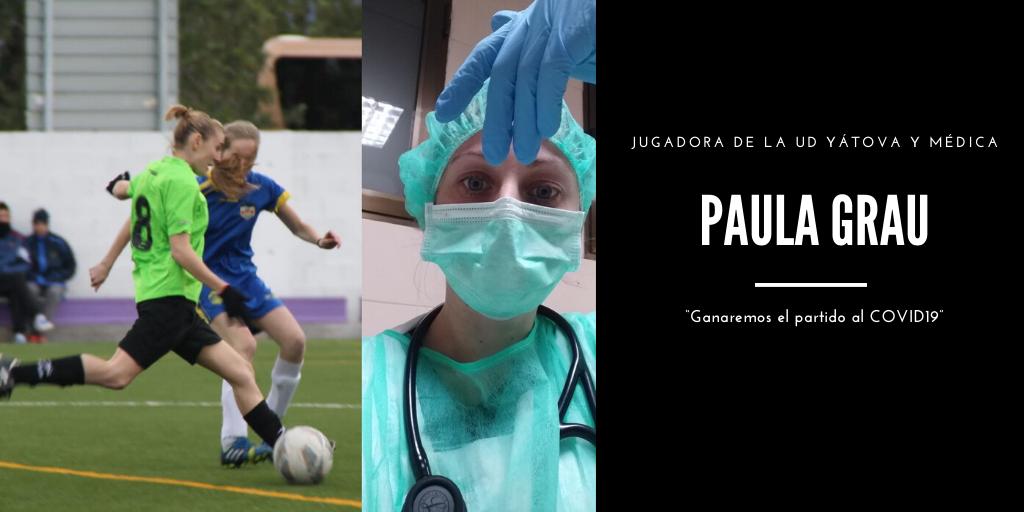 Paula Grau, médica y futbolista de la UD Yátova