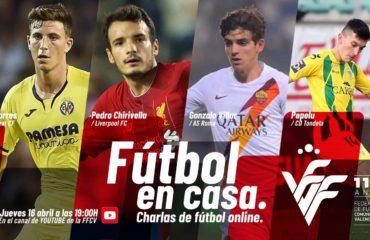 Fútbol en casa, con Gonzalo Villar, Pepelu, Pau Torres y Pedro Chirivella