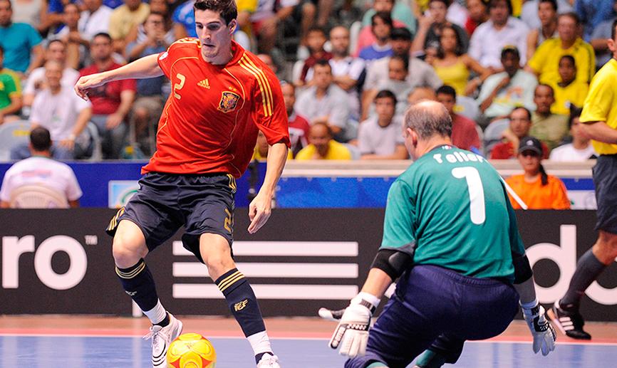 Carlos Ortiz, jugador de la Selección Española de futsal