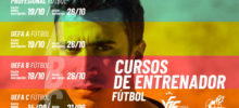 Banner cursos entrenador fútbol sept oct 2020