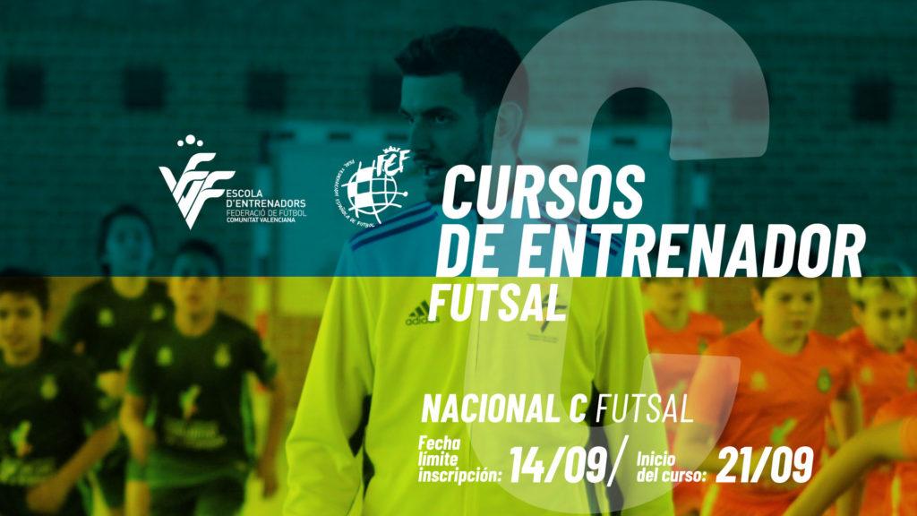 Banner cursos entrenador futsal sept 2020