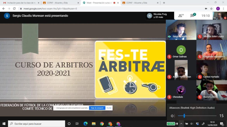 14 sep- Inicio curso online árbitros CTA FFCV