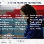 Convocatoria Alicia Moreno Selecció Valenta sub15 3 dic