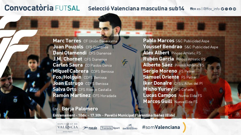Segunda convocatoria Borja Palomero sub14 fútbol sala Selecció