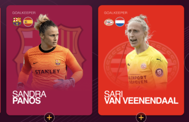 Sandra Paños nominada mejor once UEFA 2020