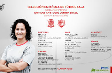 1 feb Convcocatoria Clauda Pons Selección Española absoluta Elenita UA