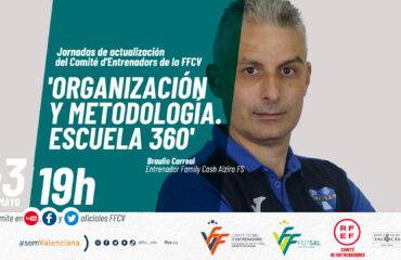 BannerPonencia de Braulio Correal, entrenador del Alzira FS
