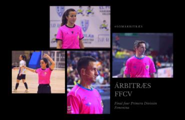 Árbitros y árbitras FFCV en final four futsal