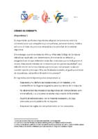 Código conducta para deportistas CSD – FFCV